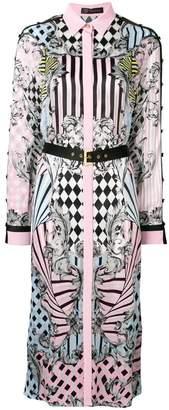 Versace Harlequin print shirt dress