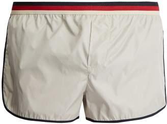 Gucci Striped-waist swim shorts