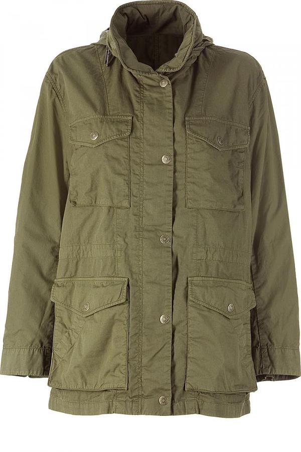Vince Military Green Hooded Jacket