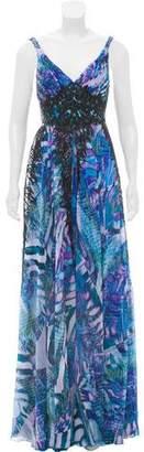 Alberto Makali Embellished Chiffon Dress w/ Tags