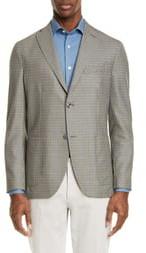Boglioli Slim Fit Check Wool & Silk Sport Coat