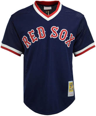 Mitchell & Ness Men's Ted Williams Boston Red Sox Authentic Mesh Batting Practice V-Neck Jersey