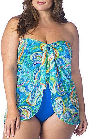 Lauren Ralph LaurenLauren Ralph Lauren Lauren by Ralph Lauren Plus Size Carnivale Flyaway One-Piece
