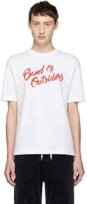 Band Of Outsiders White Logo Alpine Band T-Shirt