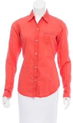 Nili Lotan Long Sleeve Button-Up Top