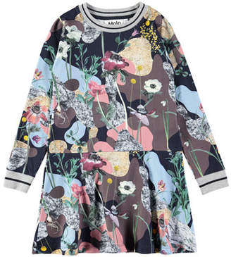 Molo Conny Long-Sleeve Floral-Print Dress, Size 2T-12