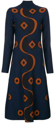 Marni abstract polo neck dress