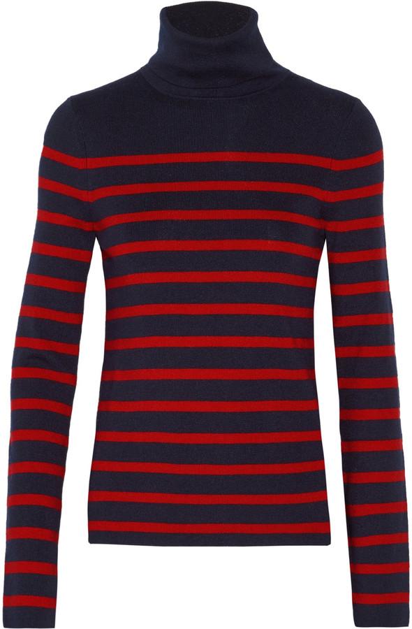 EquipmentEquipment Wilder striped silk-blend turtleneck sweater