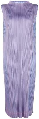 Pleats Please Issey Miyake double face dress