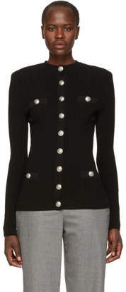 Balmain Black Button-Up Cardigan