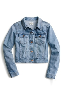 Women's J.crew Crop Denim Jacket $110 thestylecure.com
