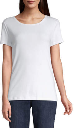ST. JOHN'S BAY Short Sleeve Crew Neck T-Shirt - Tall