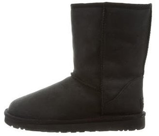 UGG Australia Classic Leather Ankle Boots $75 thestylecure.com