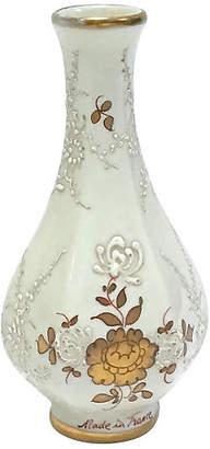 One Kings Lane Vintage Antique French Porcelain Floral Vase