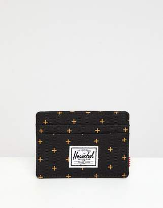Herschel Charlie Black Gridlock Card Holder