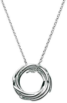 Kit Heath Sterling Silver Nest Pendant Necklace, Silver