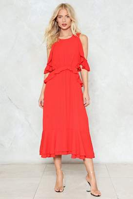 Nasty Gal Cut-Out and About Ruffle Dress