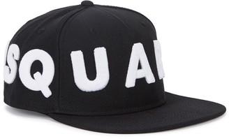 Black Logo Twill Cap