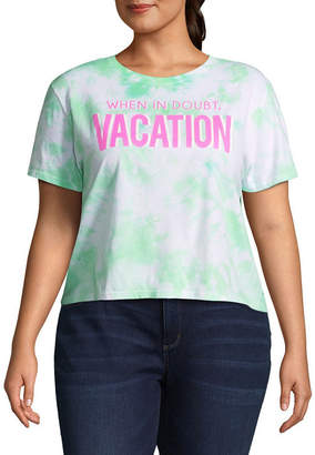 Freeze Vacation Cropped Tee - Juniors Plu