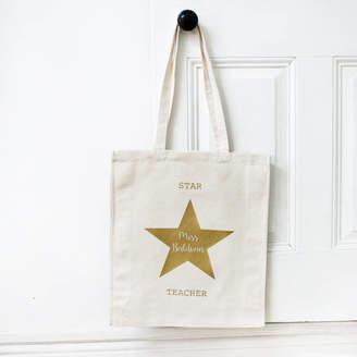 Modo creative Personalised Teacher Gold Star Bag