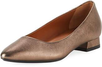 Aquatalia Penina Metallic Leather Ballet Flats