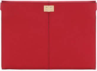 Fendi Grace Leather Turn-Lock Clutch Bag