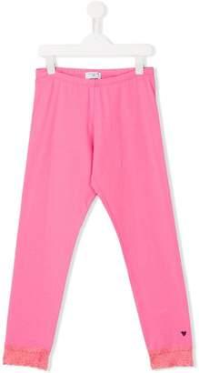 MonnaLisa lace cuff leggings