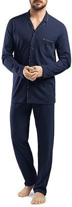 Hanro Alberto Cotton Jersey Pajama Set $210 thestylecure.com