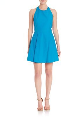 Alice and Olivia Fit & Flare Halterneck Sleeveless Dress $330 thestylecure.com