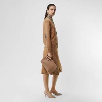 Burberry Vintage Check Detail Merino Wool Cardigan, Brown