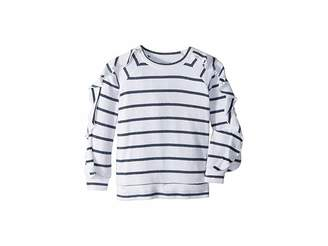 Chaser Kids Extra Soft Love Knit Ruffled Sleeve Pullover Sweater (Little Kids/Big Kids)