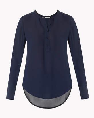 Veronica Beard Long Sleeve Silk Tunic