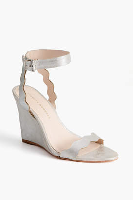 Loeffler Randall Piper Scallop Wedge Sandals