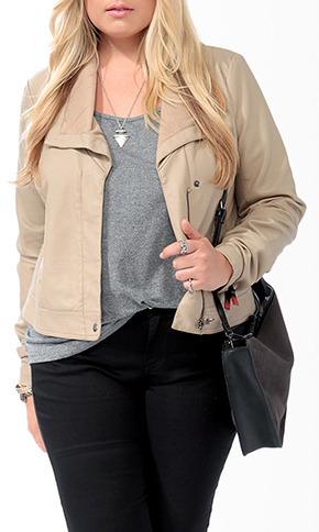 Forever 21 Paneled Faux Leather Jacket