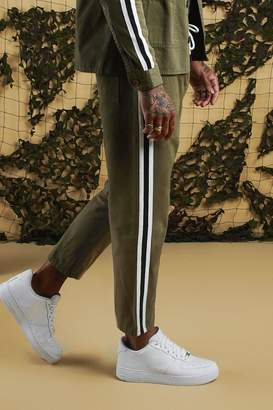 boohoo Jogger Chino With Side Tape