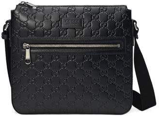 8f3ca61eaa58 Gucci Men Leather Messenger - ShopStyle