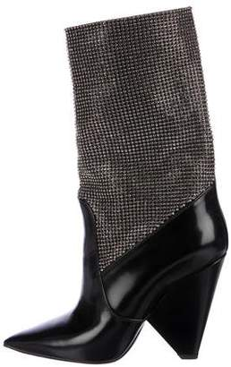 Saint Laurent Niki Crystal-Embellished Boots