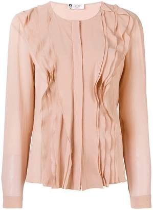 Lanvin ruffle long-sleeve blouse