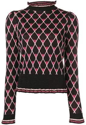 Elisabetta Franchi heart instarsia knit sweater
