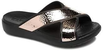 Crocs Women's Sloane Hammered Xstrp Slide W Mules in Gold