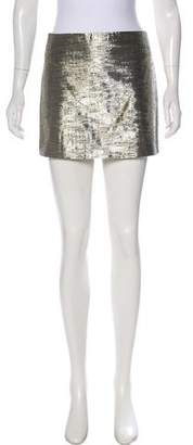 Alice + Olivia Metallic Mini Skirt