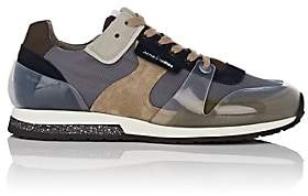 Acne Studios Men's Jimmy Mesh & Suede Sneakers-Gray