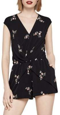 BCBGeneration Fainting Flowers Overlapping Romper