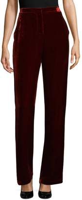 BCBGMAXAZRIA Women's Velvet High-Waist Pants