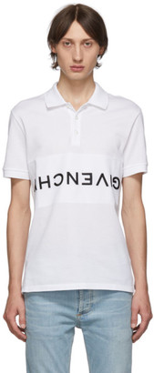 Givenchy White Reverse Polo
