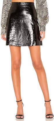L'Academie Cassandra Patent Croc Mini Skirt