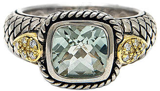Candela Andrea Mini Alhambra 18K & Silver 2.02 Ct. Tw. Green Amethyst Ring