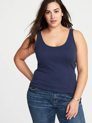 3e5a0cd654 Old Navy First-Layer Fitted Plus-Size Rib-Knit Tank