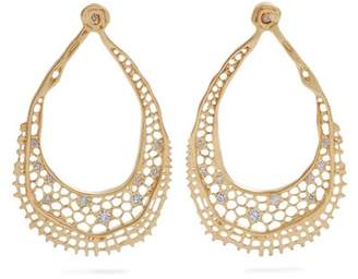 Aurelie Bidermann Fine Jewellery Fine Jewellery - Lace Diamond & Yellow Gold Earrings - Womens - Gold