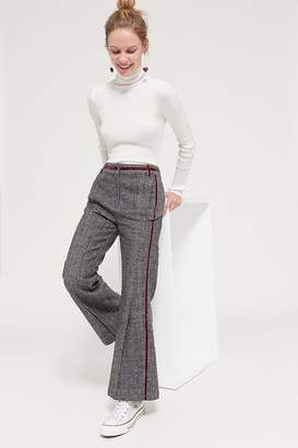Even Vintage Checkered Wool Flare Pant